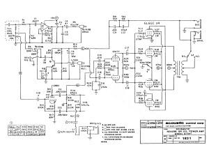 Acoustic G100T schematic