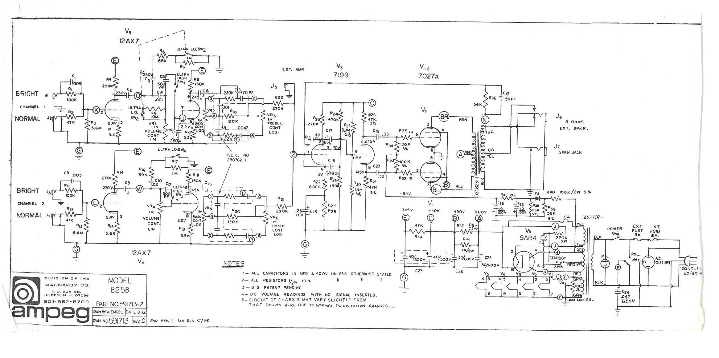 Vintage ampeg schematics