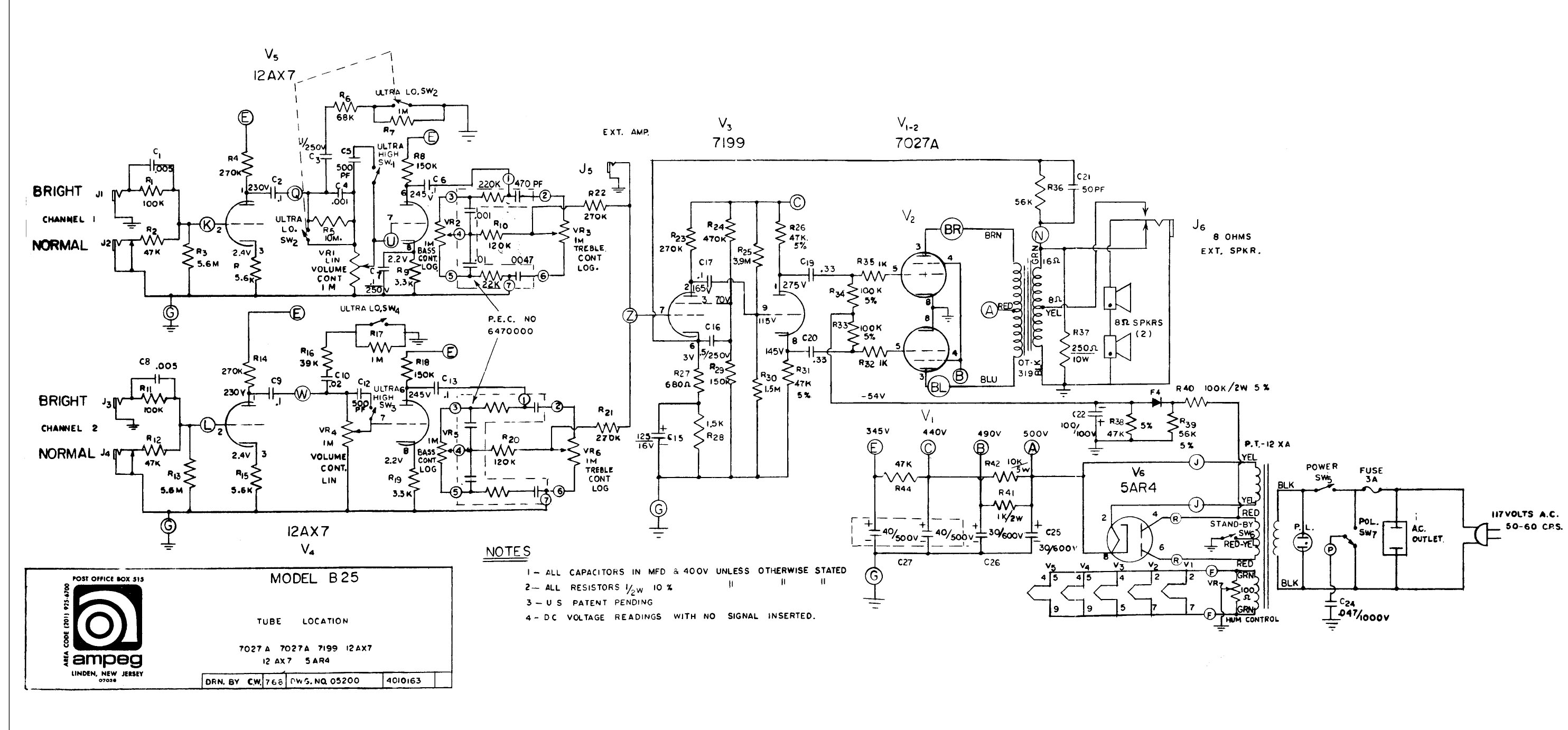 For that Vintage ampeg schematics criticism