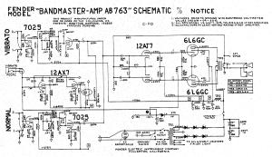 Fender Bandmaster AB763 schematic