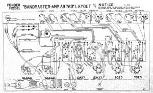 Fender Bandmaster AB763 layout