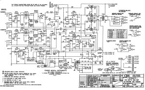 Fender Twin, Quad Reverb, Super Six schematic