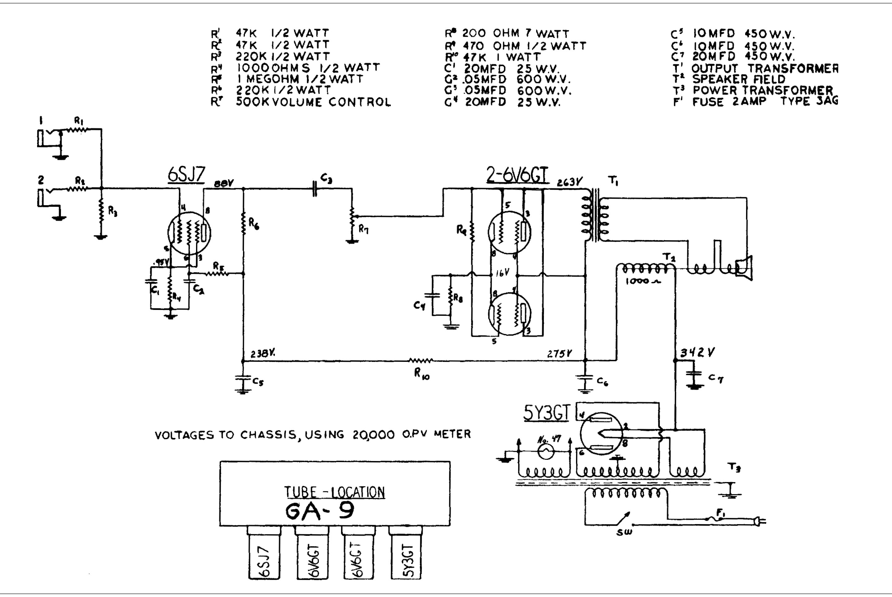 Gibson Br 9 Iration Audio Ga Power Transformer Wiring Diagram There Are Many Versions Of This Amp And One Resembles Most Closely The