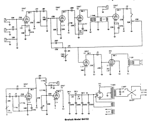 Schematic for Airline 62-9025A / Gretsch 6152 / Supro 6422