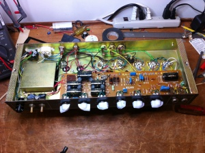 Chassis image before re-conversion to 6L6 mode.