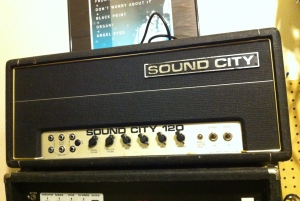Sound City Mark IV has an active preamp so if volume is up but all tone controls are turned down the amp puts out no sound. If you are testing this amp for output power and you put all tone controls on 5 like you would with most amps, you will think you have weak output for some reason. This amp will ONLY put out full power if all tone controls are on 10.