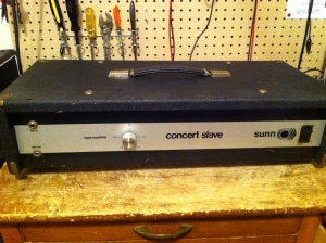 Sunn Concert Slave from early 70s. Same output section as the Concert Lead and Concert Bass. Not sure if it was the same as the Concert Controller, which was the PA version.