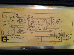 Seems all the old Ampeg amps come with the schematic. This one reads 10-66 in the bottom right corner.