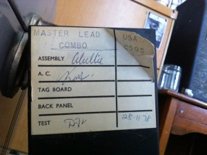 Marshall master lead tag