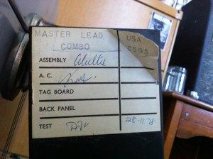 Marshall master lead tag