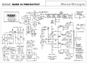 Mesa Boogie Mark III power amp and power supply