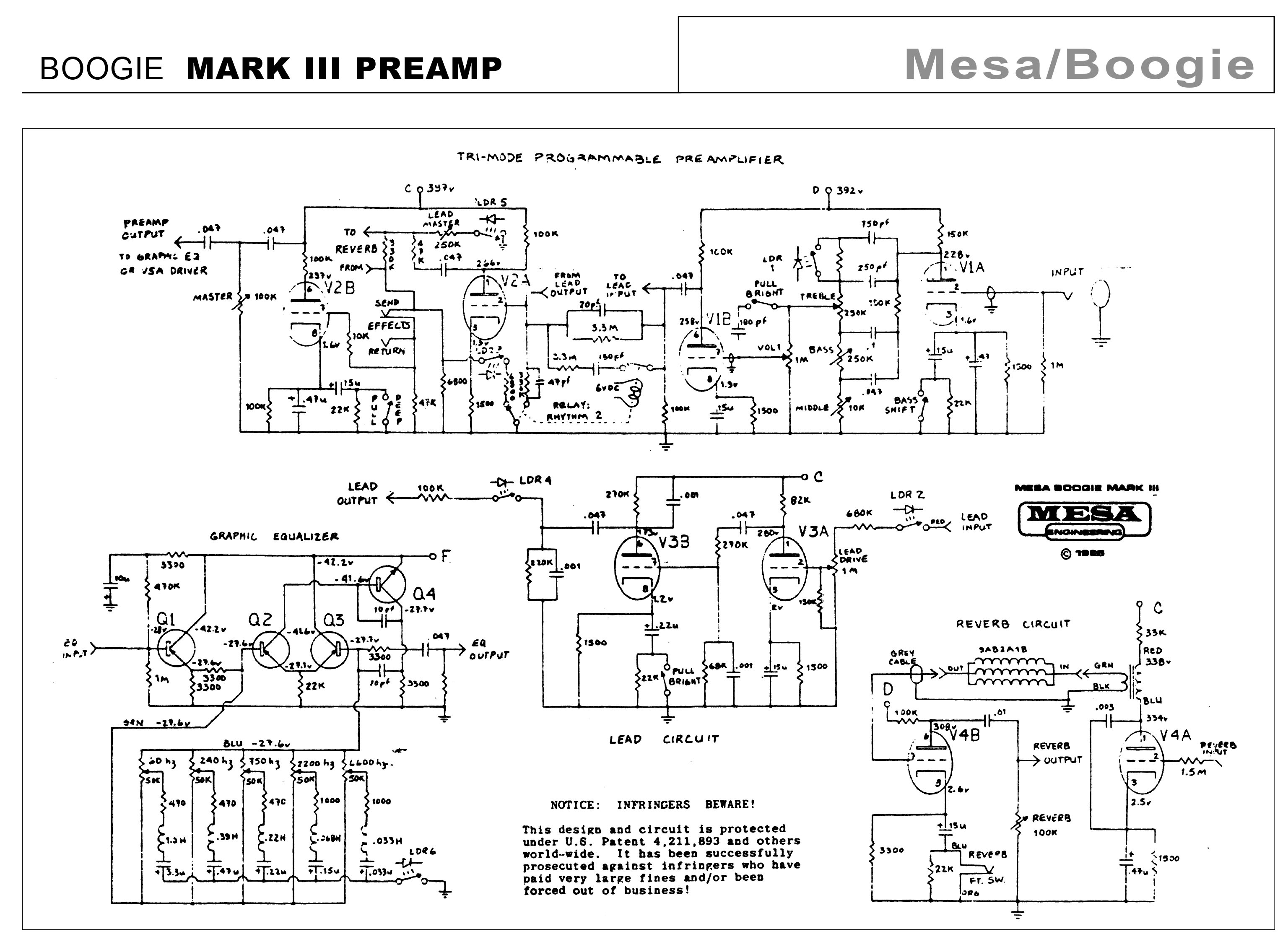 MESA BOOGIE MARK III SCHEMATIC PDF DOWNLOAD