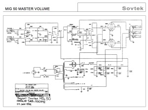 Sovtek MIG 50 schematic Schematic posted is master volume version however the amp pictured does not have the master volume option