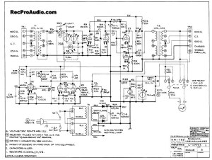 Teletronix LA2A schematic. The schematic is valuable. There is an error or two on the layout and the color coding of things can throw you off.