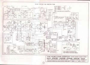 Wurlitzer 4100A schematic