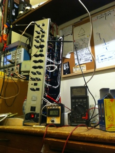 New tubes and biasing up for Laney VH-100R in the old lab.
