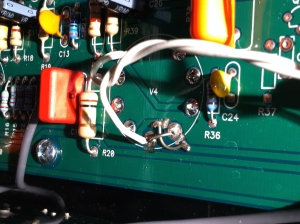 Lots of little bodges on this one and I don't know if this amp went through many revisions over the years or if they just printed the PCB totally errorful and had to make corrections. All 9 pin tube sockets were wire wronged and were factory corrected.