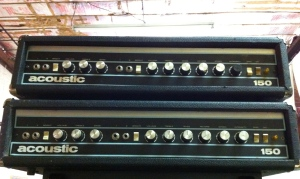 Getting some Acoustic 150s to work on. They do about 100W and have tremolo and reverb.