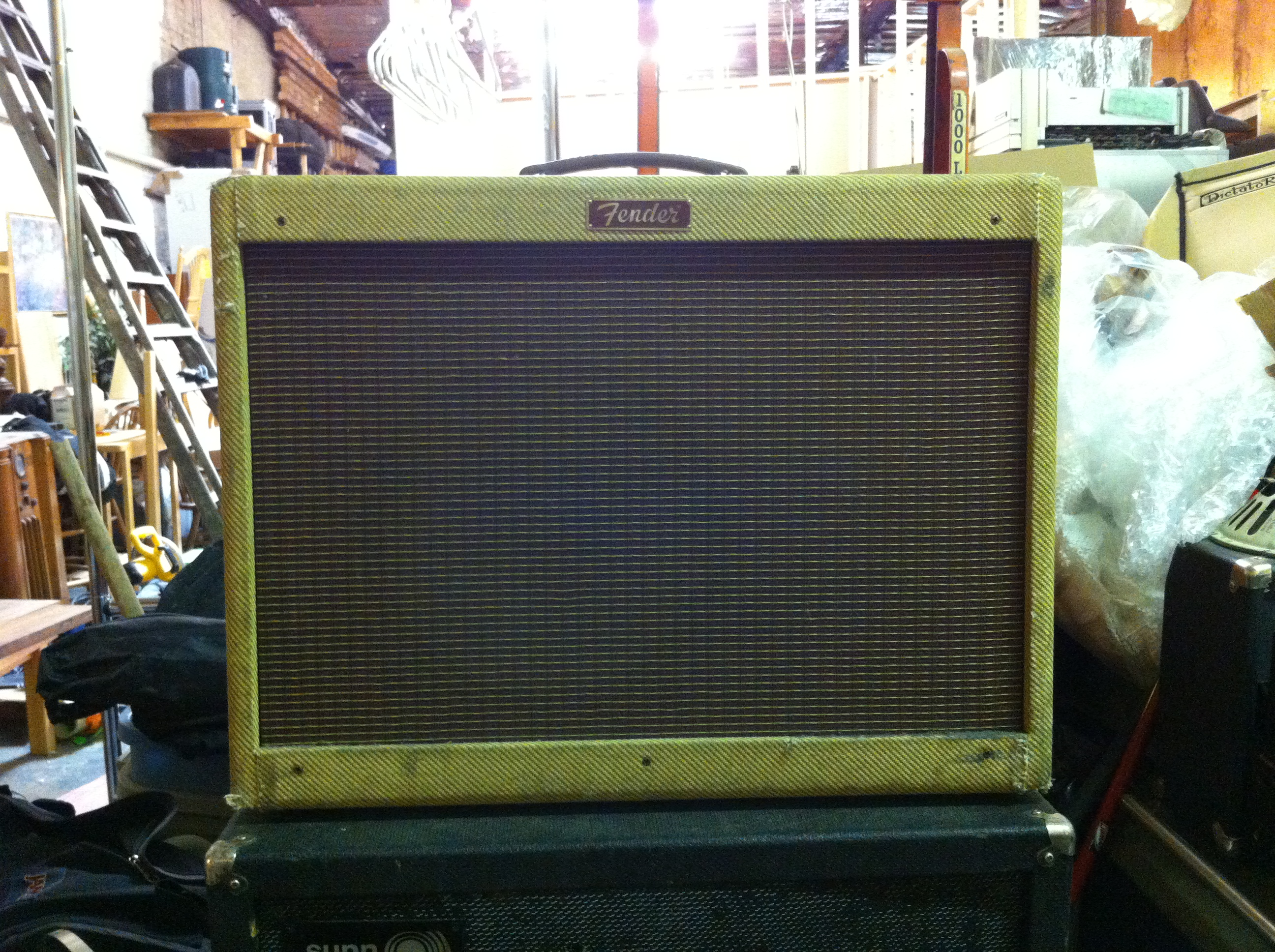 Fender Blues Deluxe reissue from mid 90s. My chassis shot was all blurry  but it's