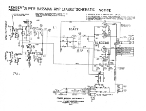 Fender Super Bassman schematic