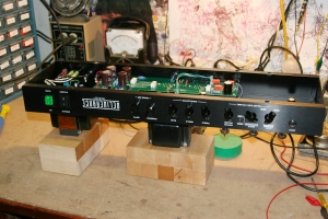 This thing had no real problems other than some noisy preamp tubes. I was just giving it a once over since it is a rental unit for Big Iron. I was able to find a page with some pics and hand drawn shematics. I cannot verify their 100% accuracy because I didn't go too far into this amp but I'm sure they are useful -- VHT Deliverance 60 schematics