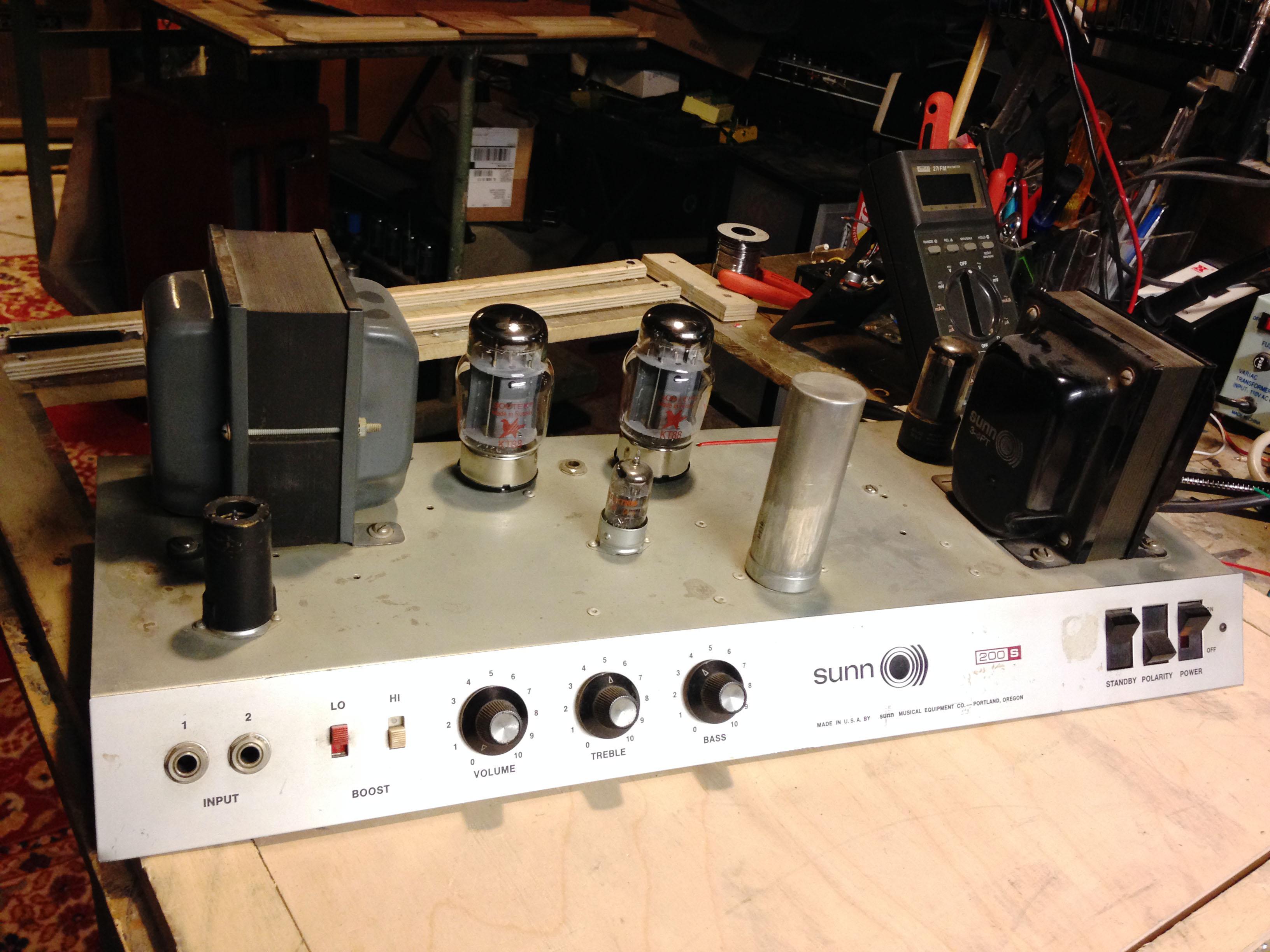 sunn amp schematic sunn 200s iration audio  sunn 200s iration audio
