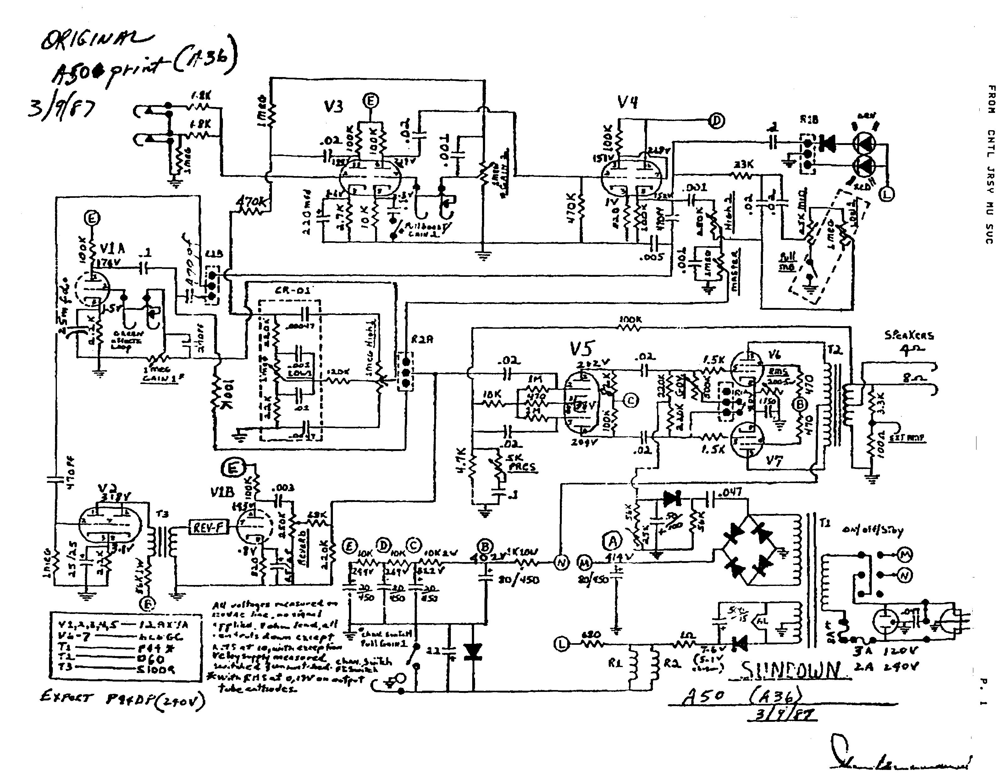 Sundown A-50 schematic
