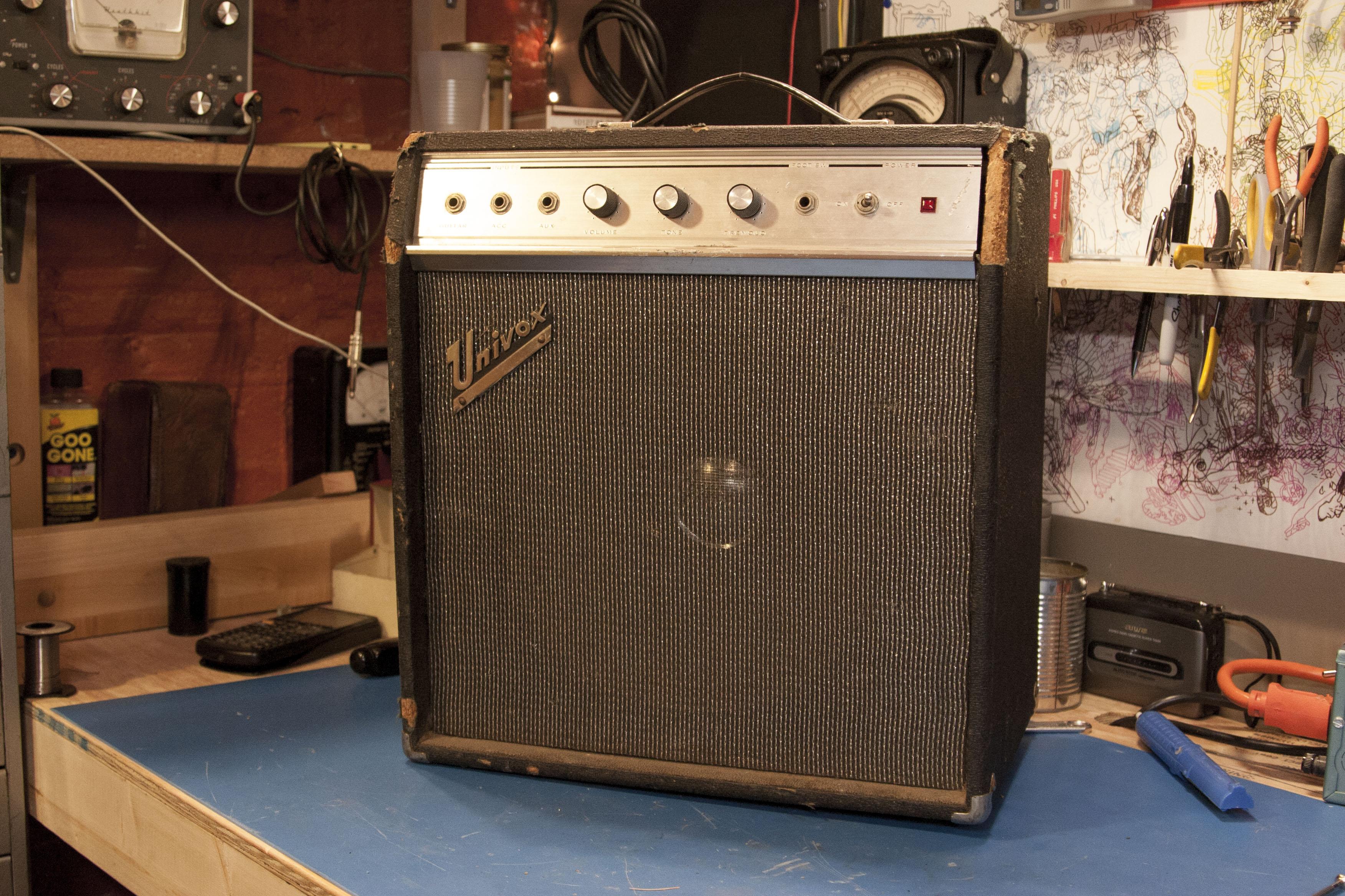 Univox U 45b Iration Audio Sears Silver Tone Guitar On Schematic Of Electric Tremolo U45b Full