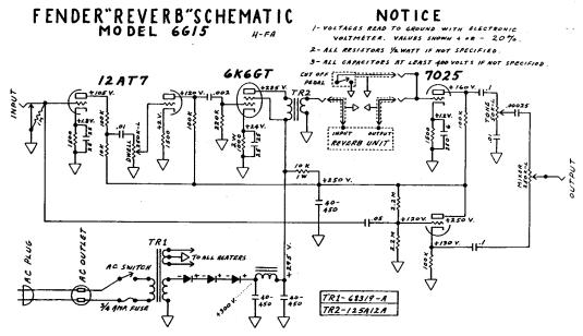 Fender Reverb-6G15-Schematic